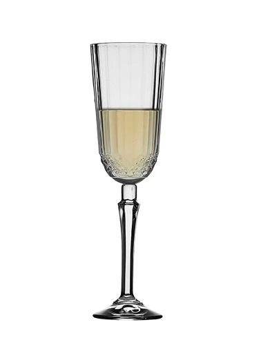Paşabahçe Diony 440210 Ayaklı Flüt Kadeh - 3 Lü Şampanya Kadehi Renkli